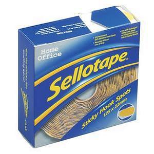 Sellotape Sticky Loop Spots in Dispenser (Pack of 125 Spots)