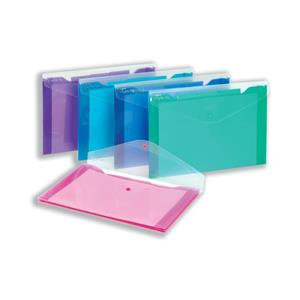 Snopake Polyfile Trio Wallet File Polyprop with Pocket Foolscap / Pack of 5