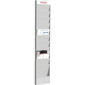 Fast Paper (A4) Document Planner Add-on 10 Compartment Polystyrene Wall Mounted