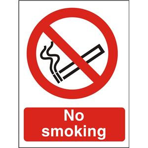 Stewart Superior P089SAV Self Adhesive Vinyl Sign (A5) - No Smoking