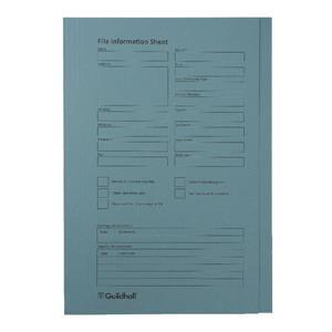 Guildhall Pre-Printed Square Cut Folders Blue