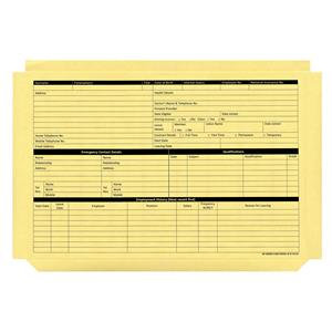 Personnel Wallets Pre-printed / Pack of 50