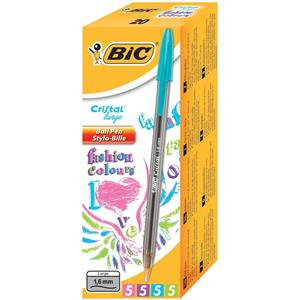 Bic Cristal Large FUN Colours Smoked Barrel Ballpoint Pen 1.6mm Tip 0.6mm Line