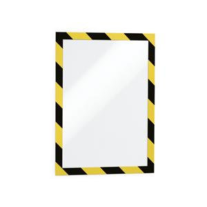 Durable DURAFRAME (A4) Self-Adhesive Magnetic Security Frame Yellow/Black
