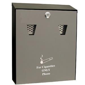 Cathedral (3.1 litre) Lockable Steel Ash Bin (Black)