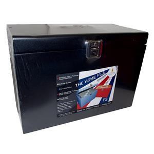 Cathedral Metal File Box Foolscap Black