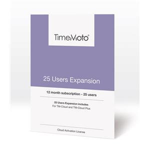 Safescan TimeMoto User Expansion (25 Users) for Cloud / Cloud Plus Time Attendan