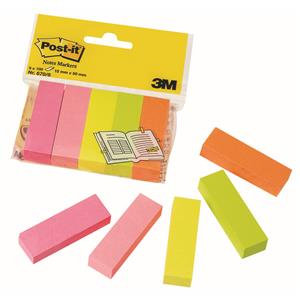 Post-it (15 x 50mm) Page Markers Assorted Colours (5 x 100 Markers)
