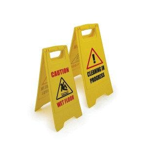 Plastic Wet Floor Sign (Yellow)