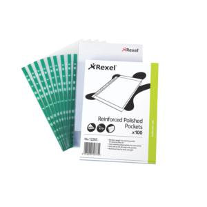 Rexel (A4) Reinforced Top Opening Pocket Crystal Clear