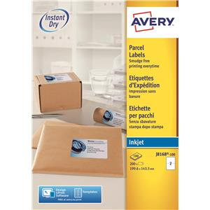 Avery White Inkjet Addressing Labels (Various Sizes and Pack Sizes)