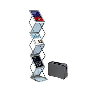Deflecto Literature Display Folding Concertina Floor Stand 6 x A4 Shelves