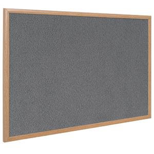 Bi-Office Earth-It (1200 x 900mm) Felt Notice Board Oak Frame