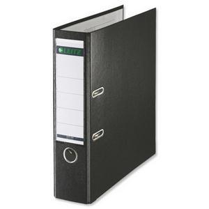 Leitz Lever Arch File Polypropylene Foolscap Black