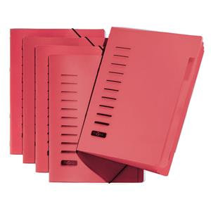 Pagna (A4) 6 Compartment Sorting File / Pack of 5