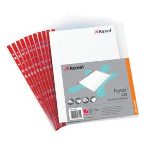 Rexel Nyrex (A4) Reinforced Pockets (Pack of 25)
