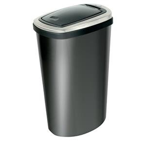 Addis Deluxe (40L) Stainless Steel Bin Black/Stainless Steel with Press Top Lid