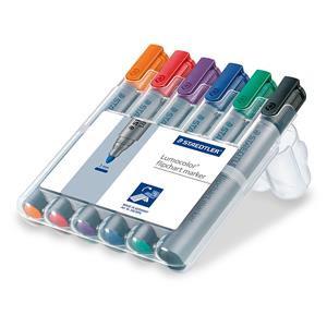Staedtler Lumocolor Flipchart Markers Water-based Dry-safe Bullet Tip 2mm
