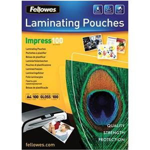 Fellowes (A4) Glossy 100 Micron Laminating Pouch