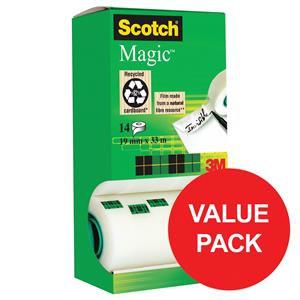 Scotch Magic 810 19mm x 33m Low Noise Invisible Tape