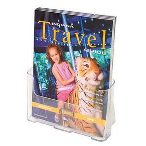 Deflecto (A4 Portrait) Single Compartment Literature Holder Magazine Size