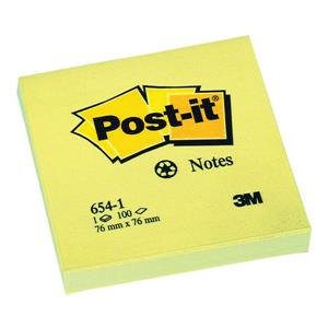Post-it Sticky Notes Recycled Canary Yellow / 100 Sheets