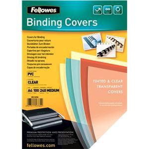 Fellowes (A4) 240 Micron PVC Cover (Clear)