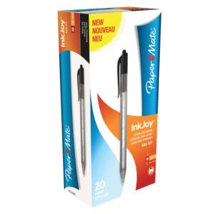 Paper Mate InkJoy 100 Retractable Ballpoint Pens Medium 1.0mm Tip / Pack 20