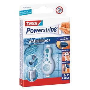 Tesa Powerstrips (max cap-2kg) Large Waterproof Removable Self Adhesive Strips