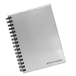 Pukka Pad Notebook Wirebound Hardback Perforated Ruled 160pp 90gsm A5 Silver