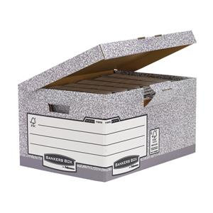 Fellowes Bankers Box System A4/Foolscap Flip Top Storage Box
