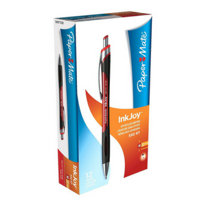 PaperMate InkJoy 550 Retractable Ball Pen 1.0mm Tip Red