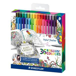 Staedtler Triplus Fineliner Superfine Point Pens Johanna Basford Edition
