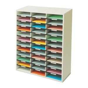 Fellowes (A4) Literature Sorter Melamine-laminated Shell with 36 Compartments