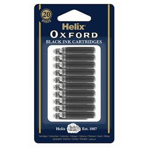 Helix Oxford Ink Cartridges Erasable / Pack of 20