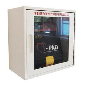 Crest Medical Wall Mounted Alarmed Cabinet (White) for iPad NF1200 AED