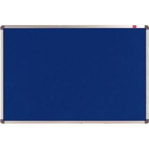 Nobo Elipse Noticeboard Felt with Aluminium Frame and Wall Fixings (Blue)