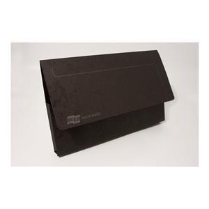 Europa (Foolscap) 265g/m2 Mottled Pressboard Pocket Wallet (Black)