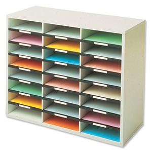 Fellowes (A4) Literature Sorter Melamine-laminated Shell with 24 Compartments