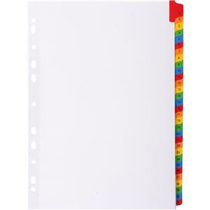 Exacompta (A4+) 31 Part (1-31) Tab Dividers (White)