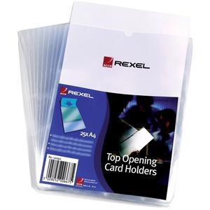 Rexel (A4) Top Opening Card Holder (Clear)
