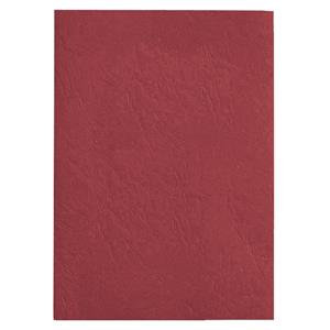 GBC Antelope (A4) Binding Covers Leather-Look Plain (Red)