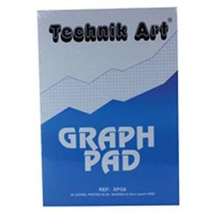 Technik Art Graph Pad A4 5mm and 1/5/10mm 40 Leaf