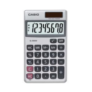 Casio SL-300SV Solar 8-digit Pocket Calculator (White)