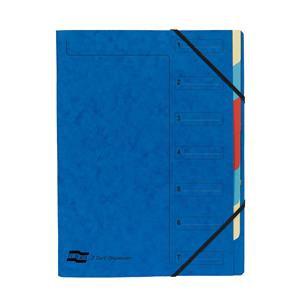 Exacompta Nature Future (A4) Organiser 7-Part Stapled Elastics Compartments Blue