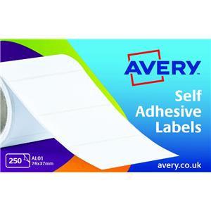 Avery AL01 Typewriter Address Labels (76 x 37mm) on Roll