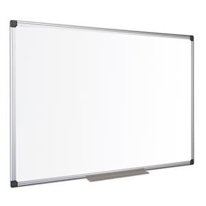 Bi-Office Maya (1200 x 1200mm) Melamine Whiteboard Non-Magnetic Aluminium Framed