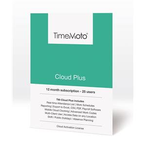Safescan TimeMoto Cloud Plus Time Attendance Software (25 Users)