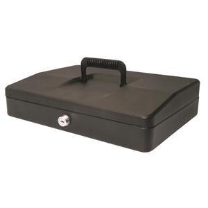 Helix (30cm) Sloping Lid Cash Box (Black)