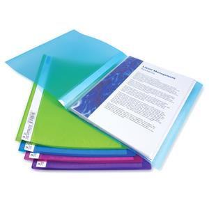 Rapesco (A4) Flexi Display Book Bright Transparent Colours